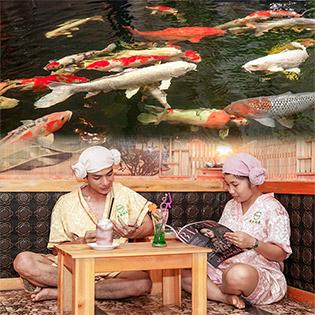 Combo Coffee - Thư Giãn Cá Massage - Xông Hơi NaNo Giảm Giá Sốc Tại KOI Cafe & Spa