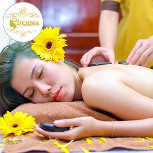 Miễn Tip - (75') Massage Body + Foot + Xông Hơi + Chăm Sóc Da Mặt + Đắp Mặt Nạ/ Điều Trị Mụn, Thâm/ Cấy Tảo Xoắn/ Hồng Sâm/ Hút Chì - Hệ Thống Derma Medical Beauty & Spa