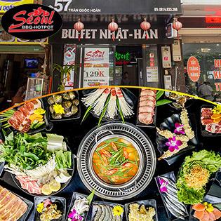 Lẩu & Nướng Seoul Menu 198K Với Bò Hảo Hạng Và Hải Sản Tươi Sống