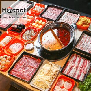 Buffet Tinh Hoa Lẩu Hải Sản - Hotpot Story Hoàng Hoa Thám Menu 296.000 VNĐ