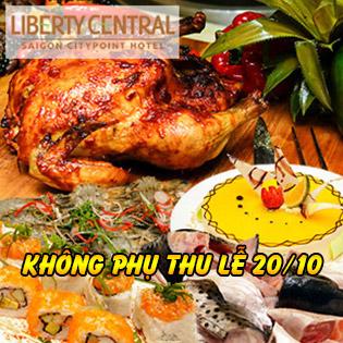 Buffet Trưa Đẳng Cấp, Không Phụ Thu Lễ 20/10 - Miễn Phí Nước - Liberty Central SG Citypoint Hotel 4*