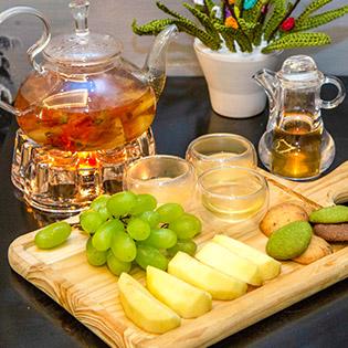 Set Trà Hoa Và Bánh/ Hoa Quả Tươi, Khô Tại Trà Hoa Handmade Bee