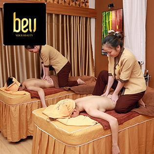 Buffet Spa - 10 Combo Massage Body, Mặt, Giảm Béo 100' - Đi 2 Người Tặng Triệt Lông - Hệ Thống BeU Spa