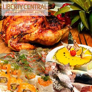 Buffet Trưa Đẳng Cấp - Miễn Phí Nước - Liberty Central SG Citypoint Hotel 4*