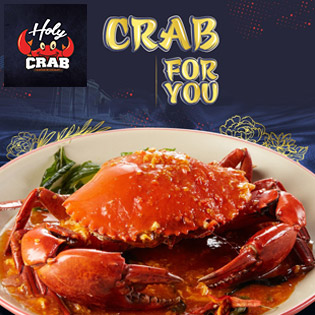 Hệ Thống Holy Crab - Cua Xốt Trứ Danh, Chuẩn Vị Singapore. Áp Dụng Lễ. Không Giới Hạn Số Lượng Voucher