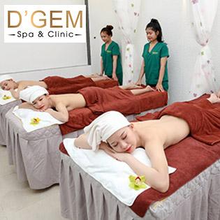 Massage Body Tinh Dầu Chanh Sả Thư Giãn Tại D'Gem Spa - Áp Dụng Cả Nam Và Nữ