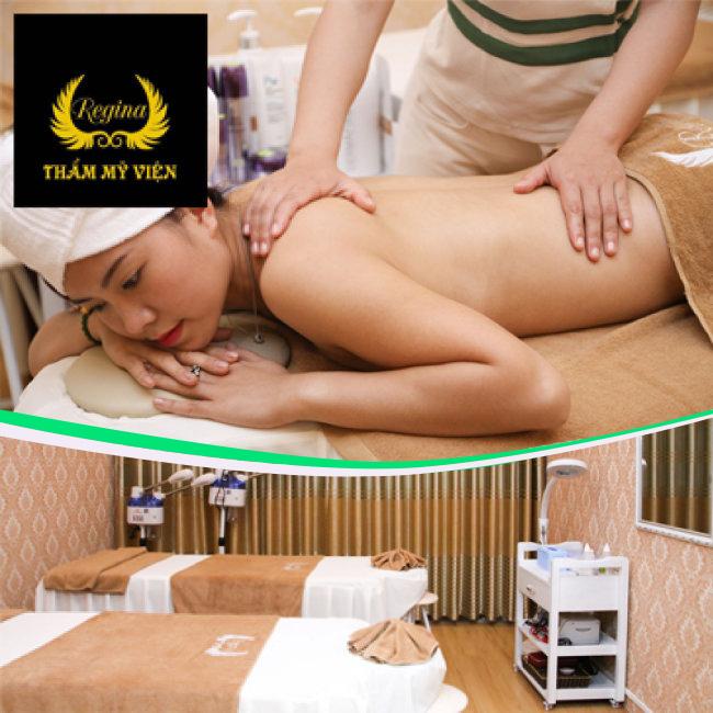 Lựa Chọn 1 Trong 2 Dịch Vụ: Bấm Huyệt, Massage Body Đá Nóng, Thư Giãn Toàn Thân/ Giảm Béo Chuyên Sâu Công Nghệ Cao - Regina Beauty & Spa 95B Lò Đúc.