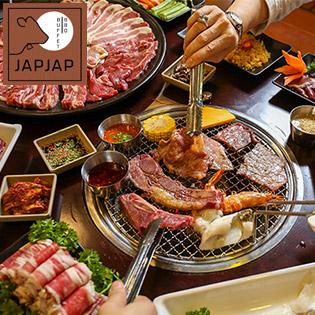 JapJap BBQ - Buffet Nướng & Lẩu Hơn 50 Món Bò Mỹ, Hải Sản & Gà Tiềm Đông Trùng Hạ Thảo, Sâm Tươi Nổi Tiếng Hàn Quốc - Free Nước Uống
