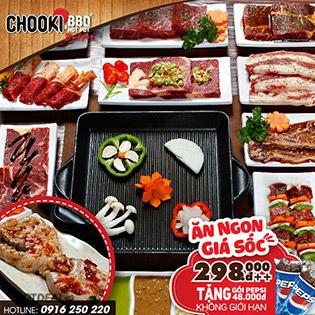 Chooki BBQ Hotpot - Buffet Buổi Tối Hơn 80 Món, Nước Ngọt Không Giới Hạn