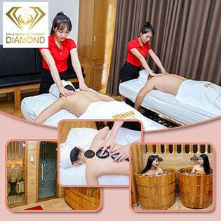Buffet Massage 3 Người 7 In 1: 90 Phút Massage Body Chuyên Sâu Shiatsu, Thái, Hồng Kông + Massage Mặt + Buffet Cháo Gà Không Giới Hạn Tại Diamond Massage