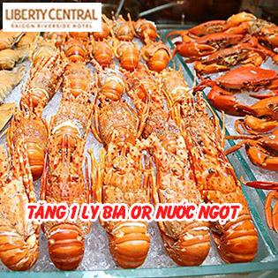 Buffet Tối Cuối Tuần Tôm Hùm, Hải Sản Cao Cấp BBQ Không Giới Hạn - Liberty Central Saigon Riverside