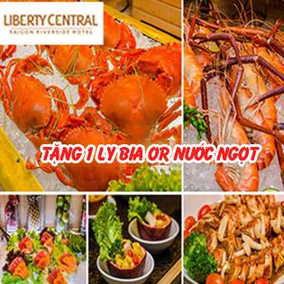 Liberty Riverside 4 Sao - Buffet Tối Hải Sản, Sashimi Cao Cấp Từ Thứ 2 Đến Thứ 5