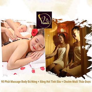 Buffet Spa Ưu Đãi Cực Sốc Tại Venus Spa Gồm: Massage Body Đá Nóng/ Chăm Sóc Da Mụn, Thâm/ Triệt Lông/ Bấm Huyệt Trị Liệu/ Chạy Vitamin C