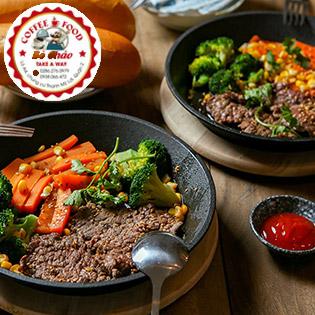 Combo 02 Bò Úc Hoàng Gia Chảo Nóng Thơm Lừng Món Ngon Hảo Hạng Tại Bò Chảo - Coffee & Food