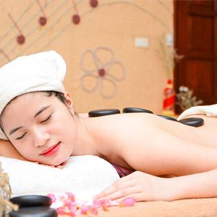 Massage Body Thư Giãn Đá nóng Tại Gai A Spa Mộc Trà