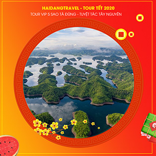 Tour Vip 5 Sao Tà Đùng 3N3Đ - Tuyệt Tác Buôn Mê Thuột – Thác Dray Nur – Lội Hồ Cưỡi Voi - Làng Café Trung Nguyên - Thực Đơn Hấp Dẫn