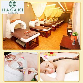 6 CN Hasaki Spa Chuẩn 5* - Massage Body Tinh Dầu Đá Nóng Thải Độc Tố + Xông Hơi + Hút Dầu + Mặt Nạ Khoai Tây
