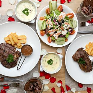 Hệ Thống The Olive Steakhouse - Set Menu Món Âu 5 Món Dành Cho 2 Người