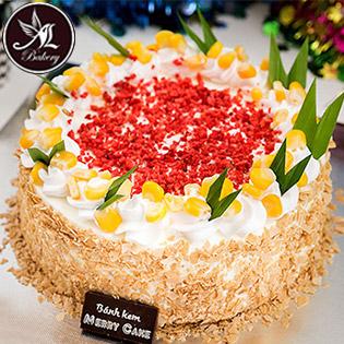 Bánh Kem Pháp Bắp Tươi Dâu Sấy Cao Cấp (1.6 Tấc X 6cm), Giao Hàng Tận Nơi - Thiên Thần Bakery