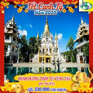 Tour Tết Canh Tý 2020 Hành Hương 10 Chùa Long Thành - Vũng Tàu 1 Ngày