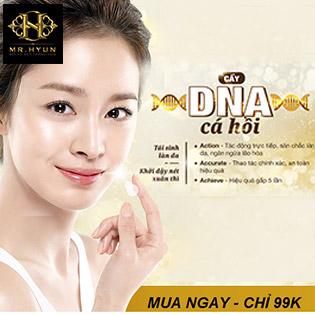 Cấy DNA Cá Hồi/ Căng Bóng Da/ Cấp Ẩm, Tái Sinh Làn Da/ Xóa Mụn, Thâm Nám Tại TMV Hyun 5 Sao