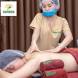 Massage Body Bằng Tinh Dầu Và Đá Nóng Kết Hợp Bấm Huyệt - Sunrise Cosmetics & Beauty