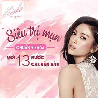 02 Buổi Siêu Trị Mụn Chuẩn Y Khoa Tại Keisha Beauty Clinic (Độc Quyền Quy Trình Dịch Vụ)