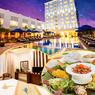 Phú Quốc Ocean Pearl Hotel 4* 2N1Đ Phòng Superior – Miễn Phí Buffet Sáng Dành Cho 2 Người