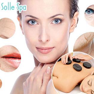 6 Combo Vip 75' Massage Body Đá Nóng/ Cấy Hồng Sâm/ Liệu Pháp Collagen Tươi Trẻ Hóa/ Tắm Trắng Body Thảo Dược/ Giảm Béo Sline - Solle Spa