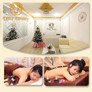 (90') Massage Body + Foot + Ấn Huyệt + Ngâm Chân + Xông Hơi/ Massage Mặt/ Massage Foot Chuyên Sâu Tại Dolly Beauty