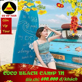 Tour Tết 2020 Vui Chơi Tại Coco Beach Camp 1 Ngày