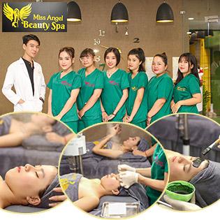 Buffet Spa - Combo Trị Mụn Chuyên Sâu/ Cấy Tảo Xoắn Vitamin C/ Cấy Hồng Sâm Dưỡng Trắng/ Hấp Trắng Nano/ Cấy Tơ Tằm/ Cấy HA Tại Miss Angel Beauty Spa