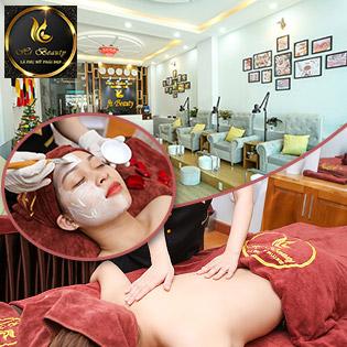 Điều Trị Mụn, Thâm/ Hút Chì/ Ủ Trắng Mặt/ Massage Body + Foot + Xông Hơi/ Đắp Mặt Nạ - Hi Beauty 5*