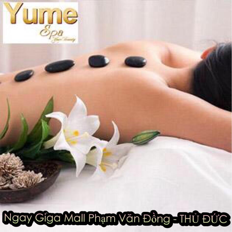 Buffet Spa: Chọn 01 Trong 06 Combo Chăm Sóc Da Mặt/ Điều Trị Mụn/ Massage Body Đá Nóng - Kết Hợp Massage Cổ Vai Gáy, Ấn Huyệt/ Ủ Face Huyết Yến/ Detox Da Tại Yume Spa