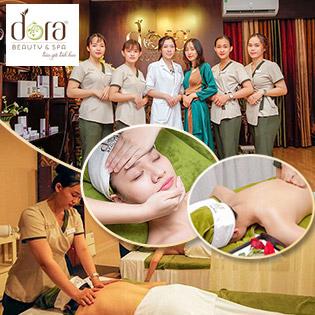 Lấy Nhân Mụn Chuẩn Y Khoa/ 75' Massage Body Aroma + Massage Mặt Nâng Cơ Xóa Nhăn Tại Dora Beauty & Spa