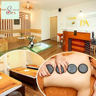 Buffet Spa - Thả Ga Làm Đẹp Massage Body Đá Nóng/ Chăm Sóc Da Mụn/ Nám, Tàn Nhang/ Massage Tan Mỡ Bụng, Đùi, Tay/ Triệt Lông Nách Công Nghệ Cao Tại Four Seasons Spa