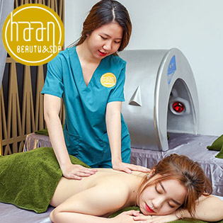 Miễn Tip - (110') Massage Body + Foot + Ấn Huyệt + Ngâm Chân + Đắp Thảo Dược Trị Nhức Mỏi + Chăm Sóc Da Mặt + Đắp Mặt Nạ Tại Haan Beauty Spa 5*