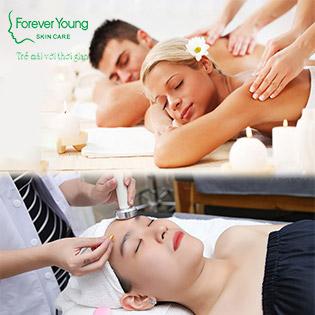 Buffet Spa 09 Combo 105' Massage Body, Mặt, Nâng Cơ RF, Điện Di, Mụn, Giảm Béo Cho Nữ, Couple Tại  Forever Young Spa