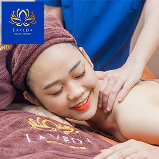 Trọn Gói 04 Dịch Vụ Massage Body + Chạy Vitamin C + Đắp Mặt Nạ + Triệt Lông - Laveda Beauty Center