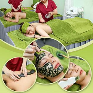 Miễn Tip - (120') Massage Body + Foot + Cấy Tảo Xoắn + Đắp Mặt Nạ + Mắt + Nằm Gối Nóng Thảo Dược + Phun Hơi - B&B Spa