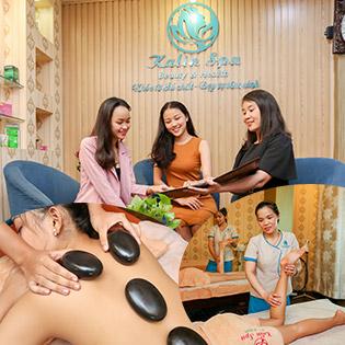 Miễn Tip Trọn Gói 5 Dịch Vụ: Massage Body Đá Nóng + Foot + Xông Hơi Đá Muối Himalaya Không Giới Hạn + Ấn Huyệt Thư Giãn Giảm Stress - 5 CN Kalin Spa