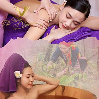 Buffet 5* 09 Dịch Vụ Massage Body + Foot + Chăm Sóc Da/ Chạy C/ Tắm Lá Dao Đỏ/ Nail/ Triệt Lông/ Trị Mụn/ Gội Đầu Tại Thế Giới Thẩm Mỹ The Story Vivian