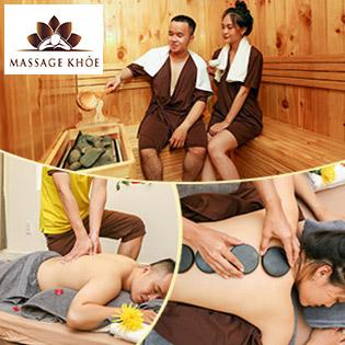 (110') Massage Body Nhật + Thái + Đài Loan/ Massage Foot (75') + Steambath + Sauna + Ngâm Chân + Đắp Mắt + Nằm Gối Nóng Thảo Dược (35') - Hệ Thống MASSAGE KHỎE
