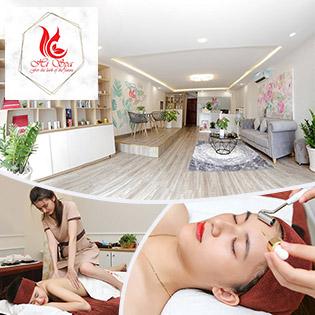 (100') Massage Body + Foot + Xông Hơi/ Điều Trị Mụn, Thâm/ Chạy Vitamin C - Hi Spa 5*