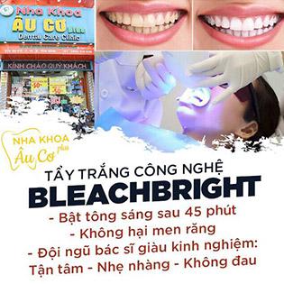 Nha Khoa Âu Cơ Plus - Tẩy Trắng Răng Bleachbright Không Đau, Không Ê Buốt (Đã Bao Gồm Cạo Vôi, Đánh Bóng)