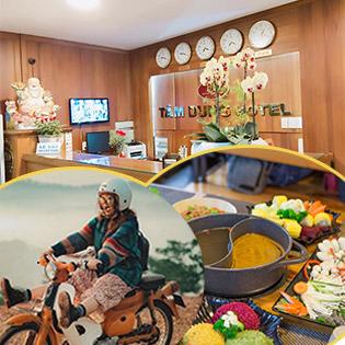 Khách Sạn Tâm Dung 2* - Trung Tâm Chợ Đà Lạt - Combo 3N2Đ Phòng Standard + Tặng Xe Máy Tham Quan + Buffet Rau + Buffet Sáng + 01 Ly Café Pha Máy Dành Cho 01 Khách
