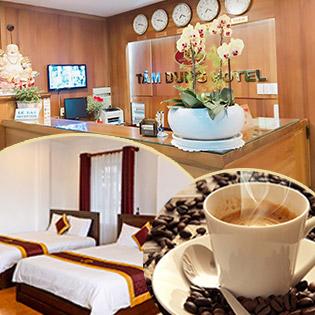 Khách Sạn Tâm Dung 2* Trung Tâm Chợ Đà Lạt - Gói Kỳ Nghỉ 5 Đêm Phòng Standard - Sử Dụng Không Giới Hạn - Dành Cho 02 Khách - Tặng 01 Ly Café Pha Máy