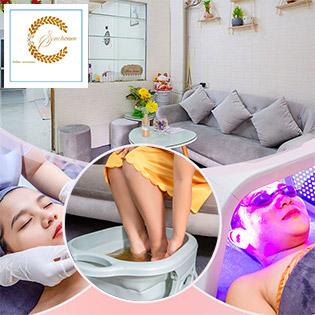 Combo Ngâm Chân Thảo Mộc + Massage Cổ Vai Gáy + Chăm Sóc Da Chuyên Sâu Cấp Ẩm Tại Sam House Spa