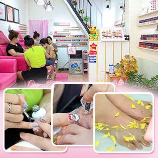 Nails Xinh/Gót Hồng Đón Tết Chỉ 69k: Cắt Da + Sơn Gel + Trang Trí 4 Ngón /Ngâm Muối + Tẩy Chết + Chà Gót + Massage Chân Tại Chang Nails