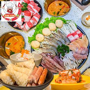 Buffet Lẩu Băng Chuyền Hongkong - Chỉ 165k Tuyệt Đỉnh Buffet Lẩu Băng Chuyền Buổi Trưa T2 - T6